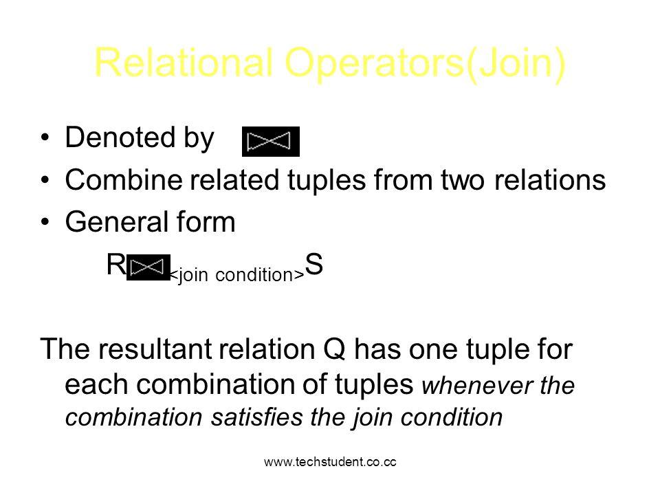 Relational Operators(Join)