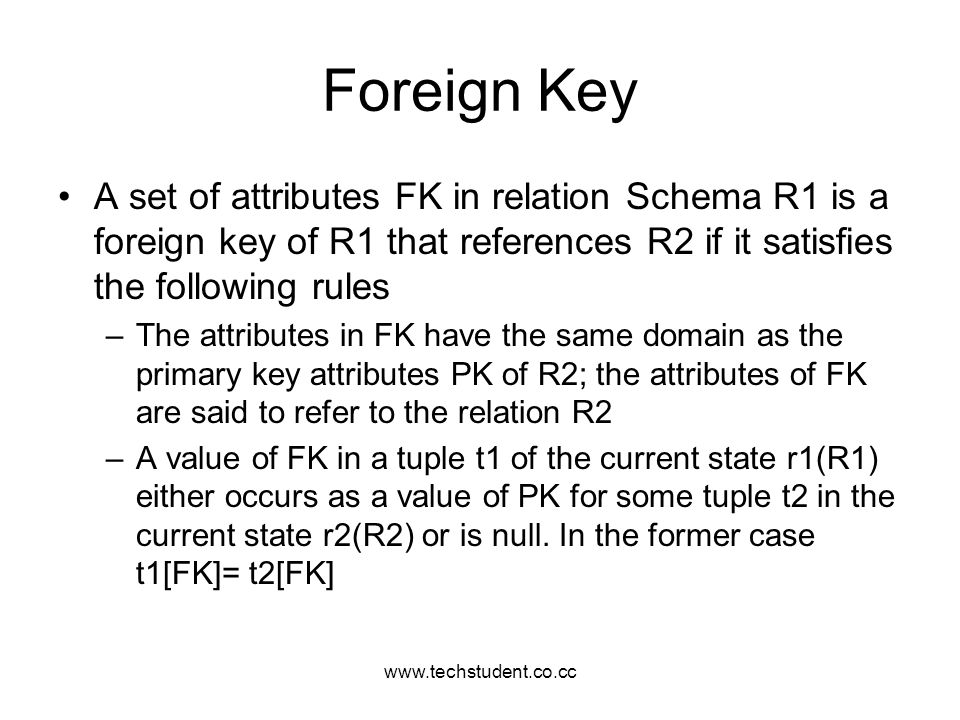 www.techstudent.co.cc Foreign Key.