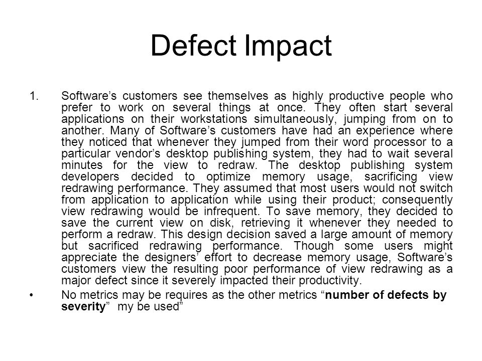 Defect Impact