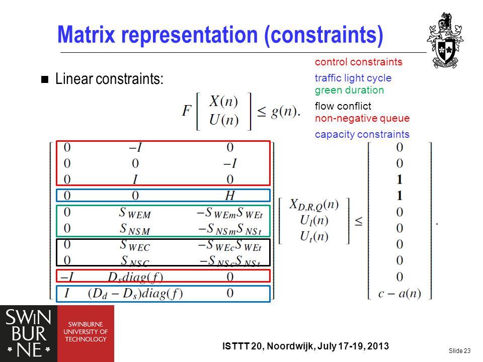 Matrix representation (constraints)