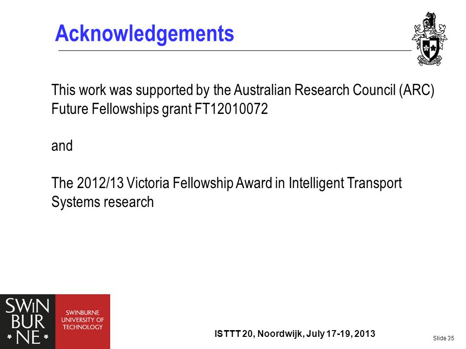 Acknowledgements This work was supported by the Australian Research Council (ARC) Future Fellowships grant FT12010072.