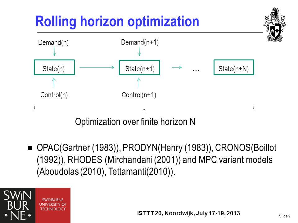 Rolling horizon optimization