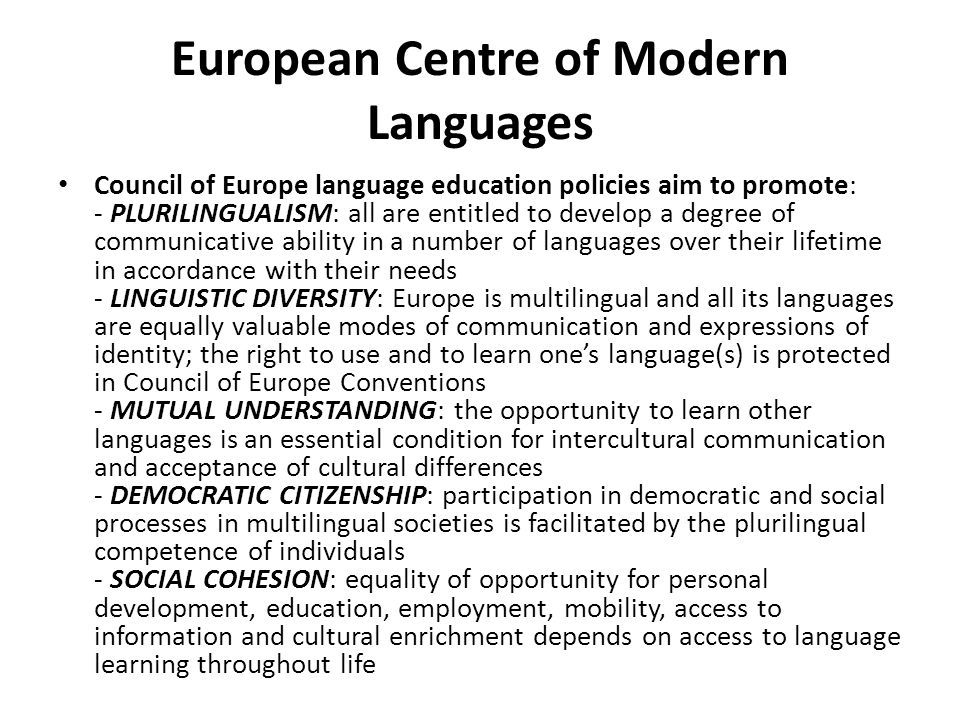 European Centre of Modern Languages