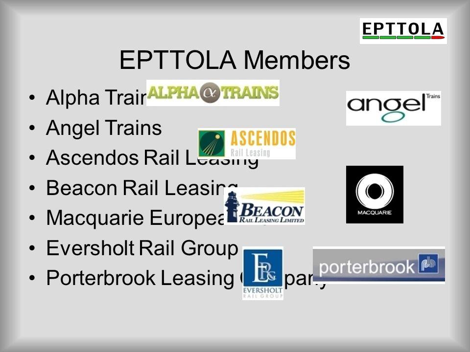 EPTTOLA Members Alpha Trains Angel Trains Ascendos Rail Leasing
