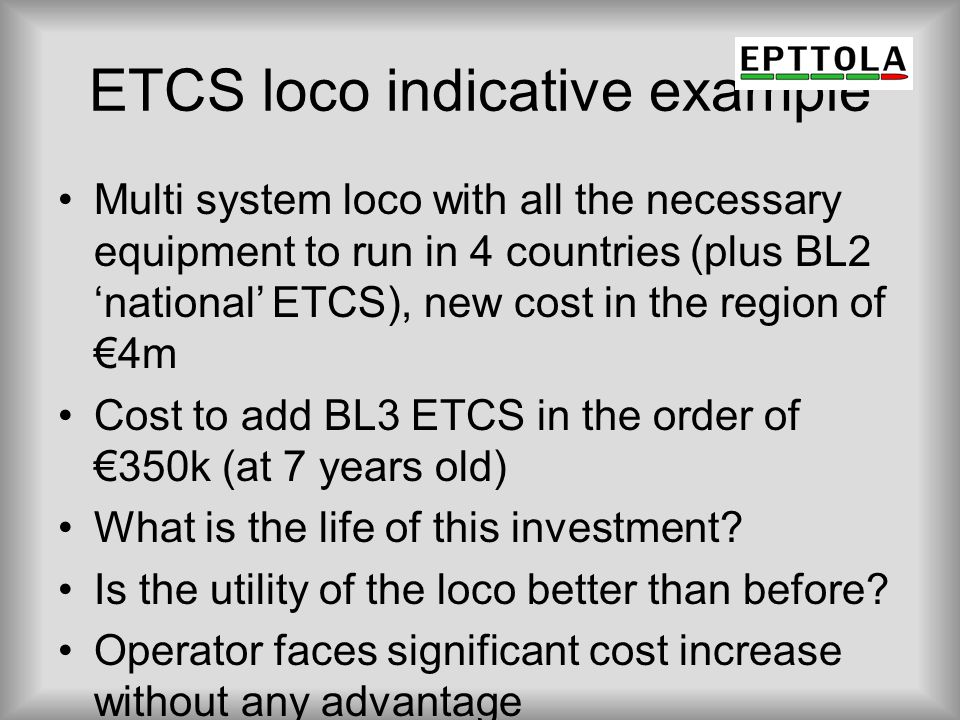 ETCS loco indicative example