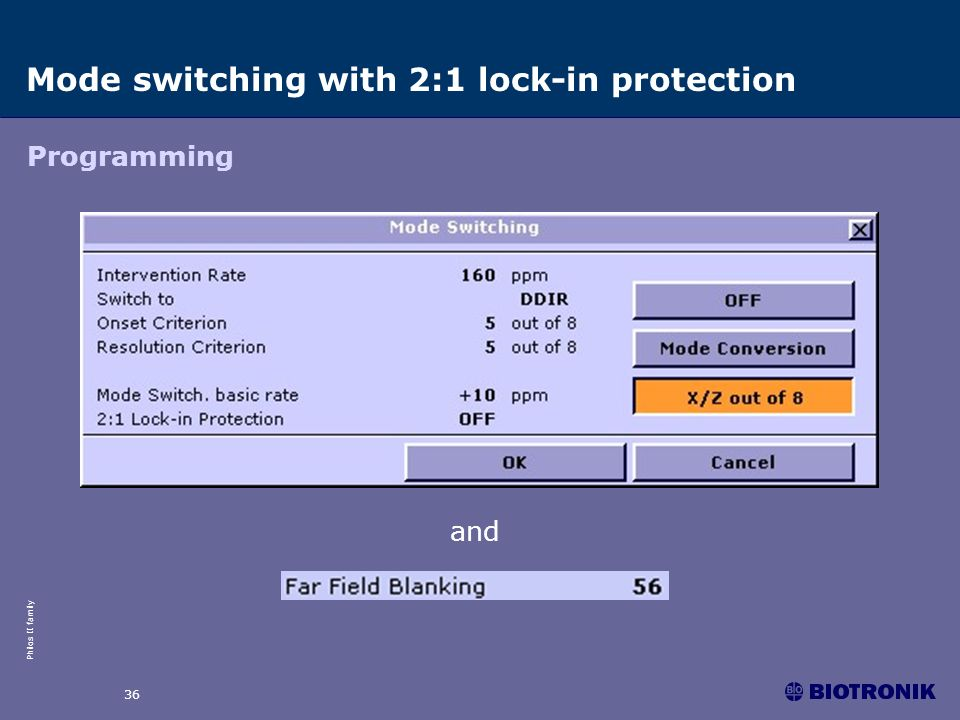 Mode switching with 2:1 lock-in protection
