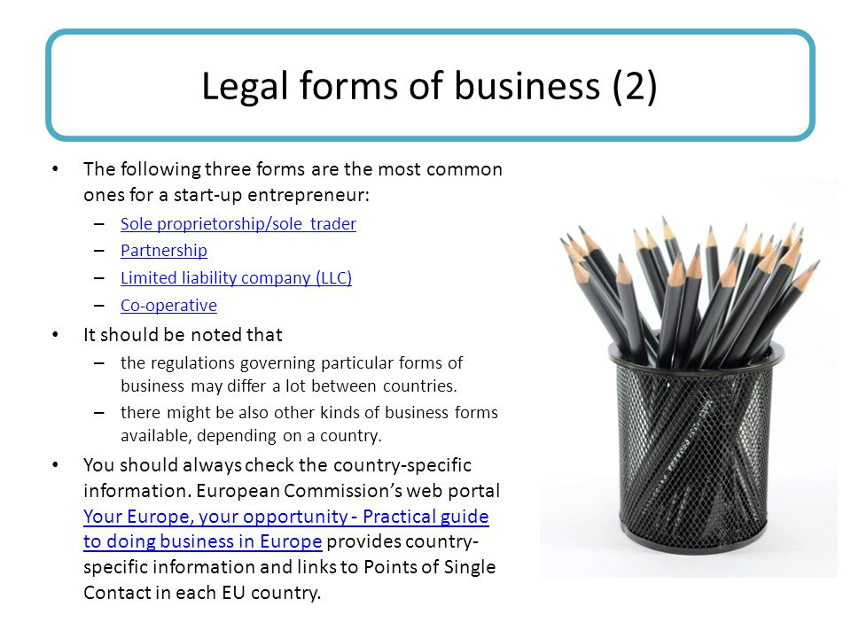 Legal forms of business (2)