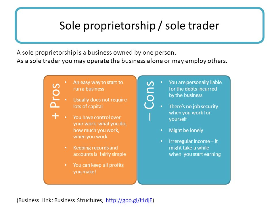 Sole proprietorship / sole trader