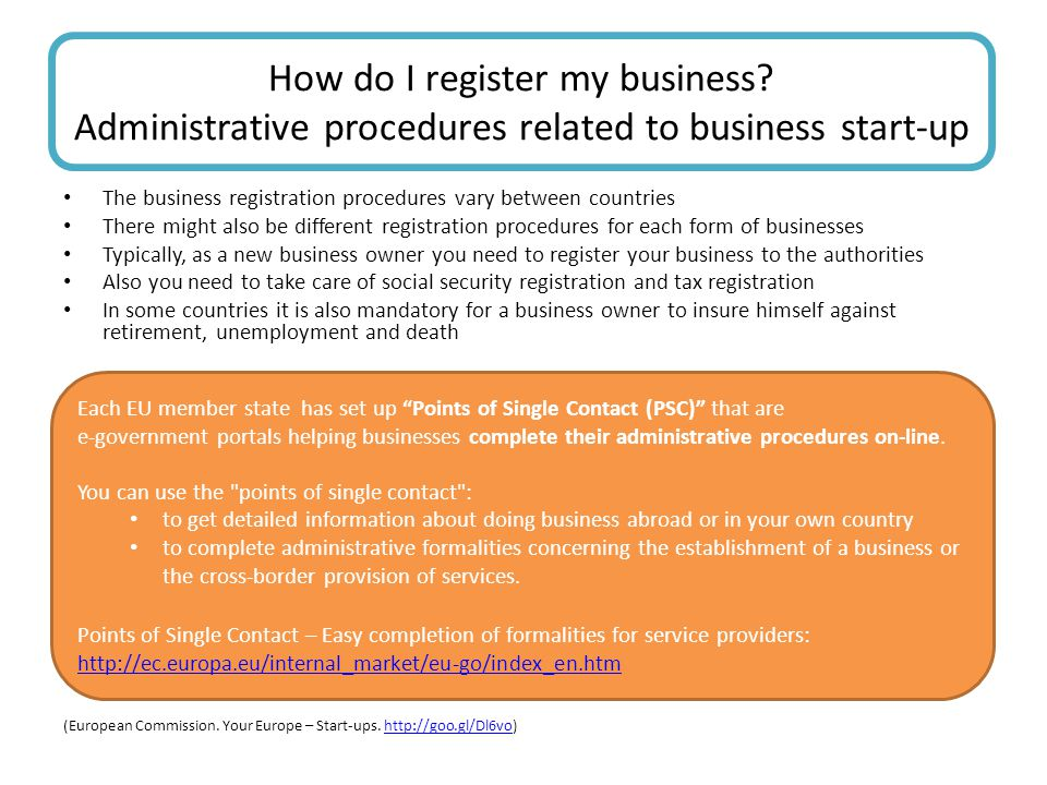 How do I register my business