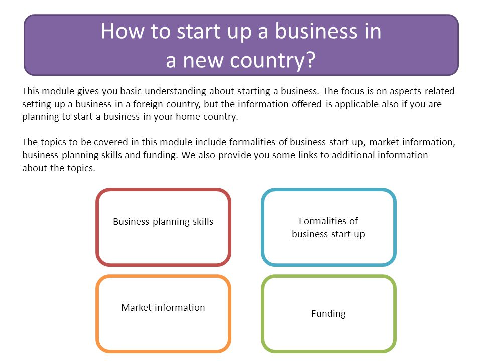 How to start up a business in a new country
