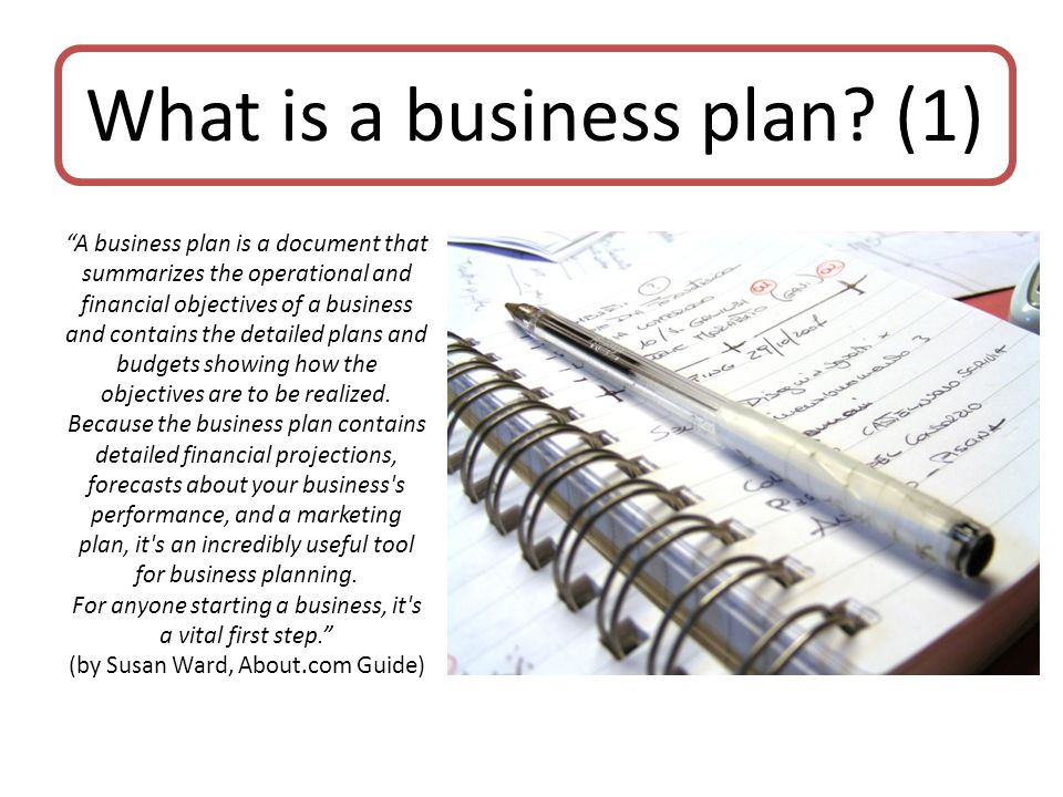 What is a business plan (1)