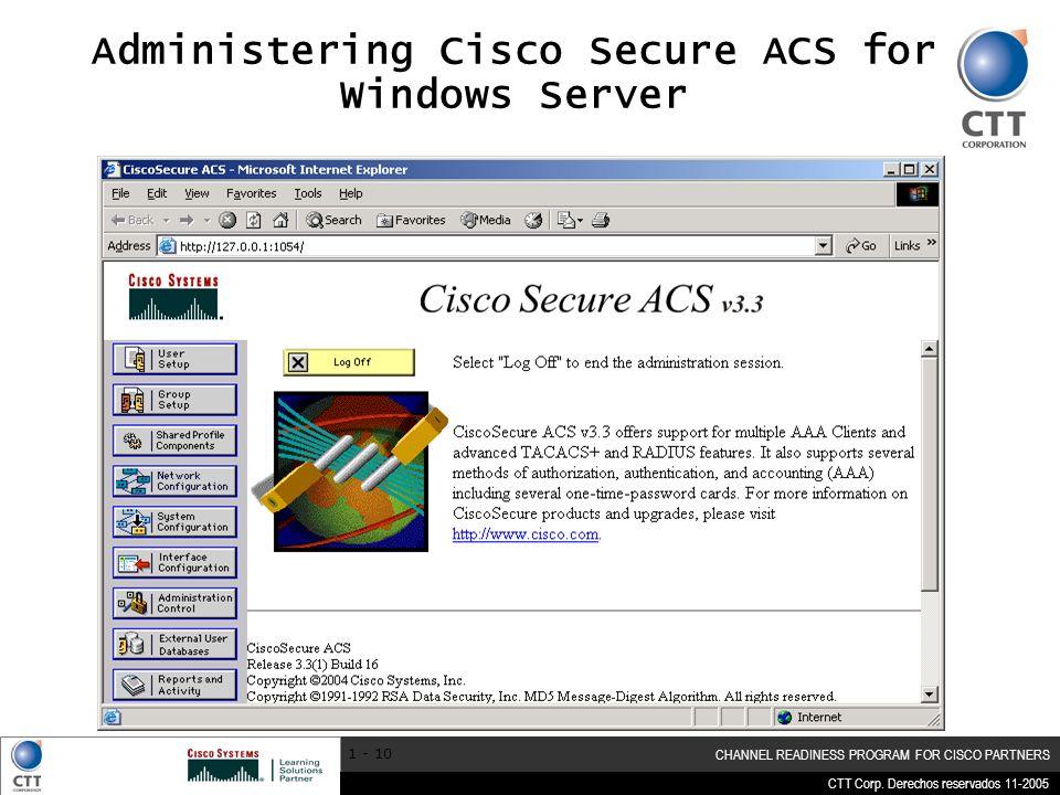 Administering Cisco Secure ACS for Windows Server