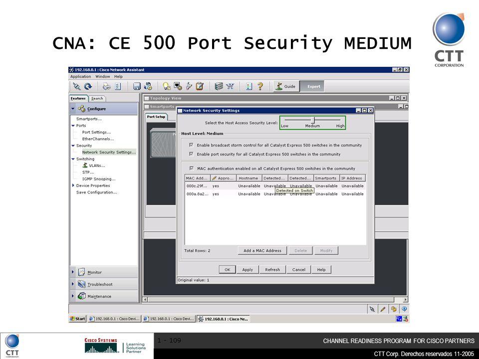 CNA: CE 500 Port Security MEDIUM