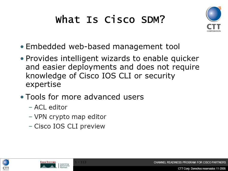 What Is Cisco SDM Embedded web-based management tool