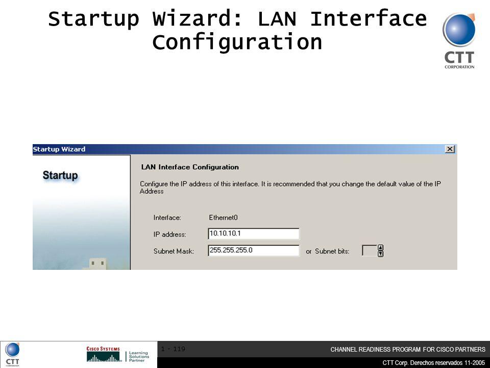 Startup Wizard: LAN Interface Configuration