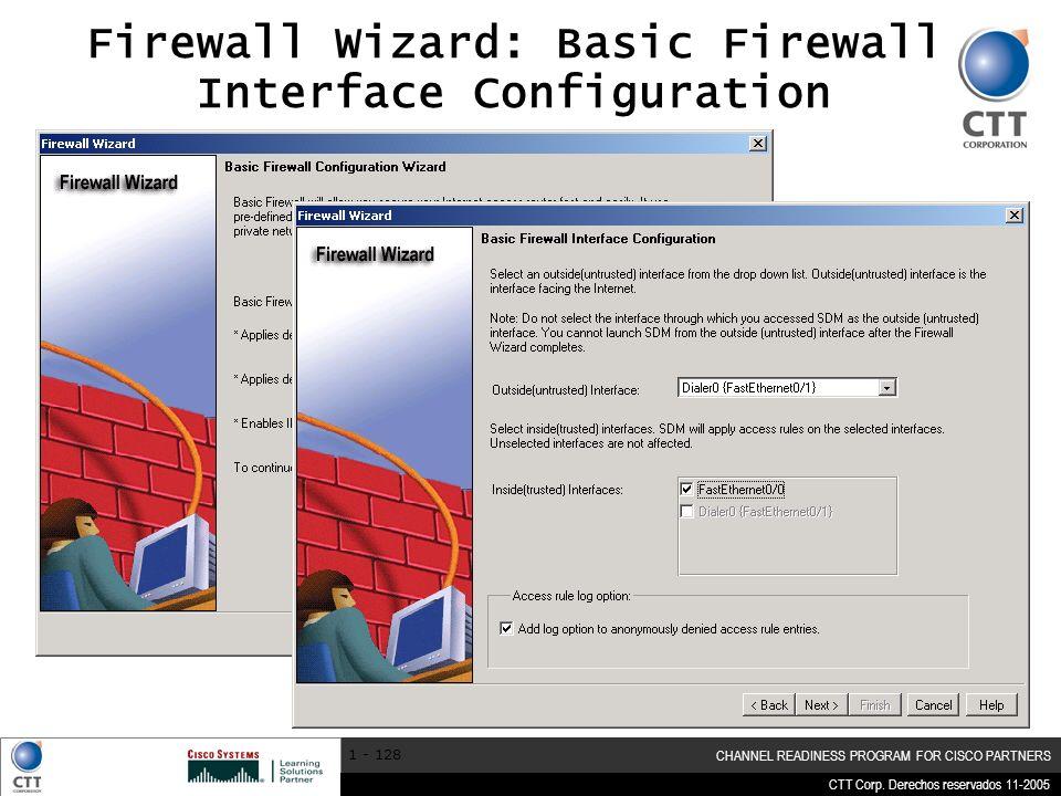 Firewall Wizard: Basic Firewall Interface Configuration