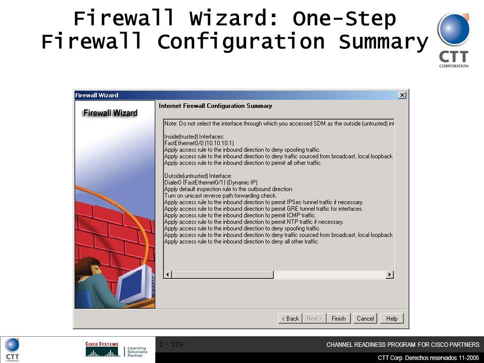 Firewall Wizard: One-Step Firewall Configuration Summary
