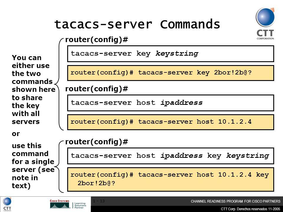 tacacs-server Commands