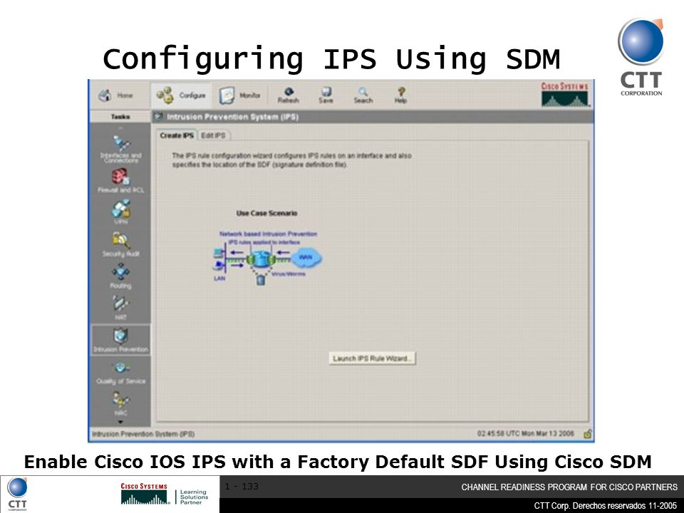Configuring IPS Using SDM
