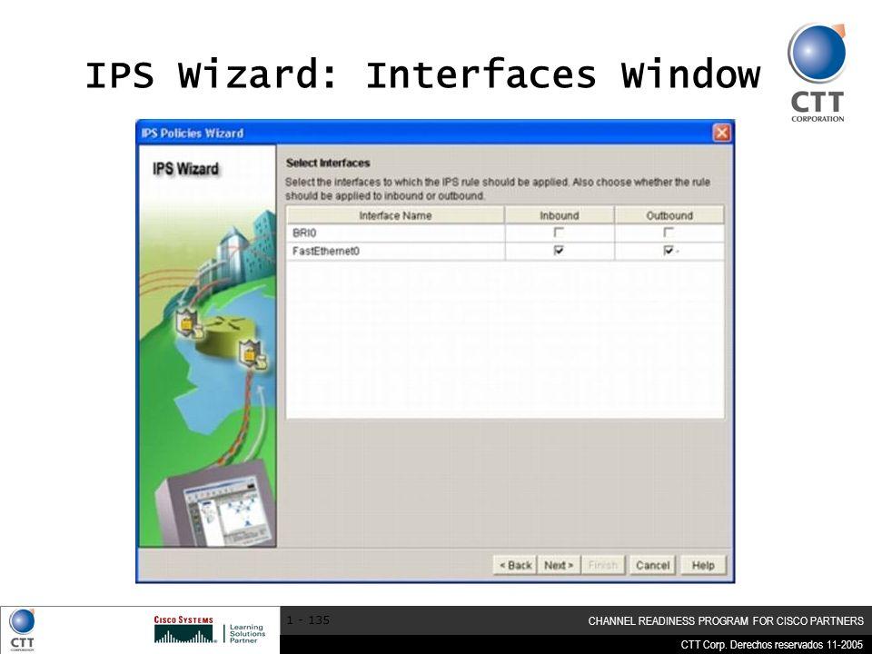 IPS Wizard: Interfaces Window