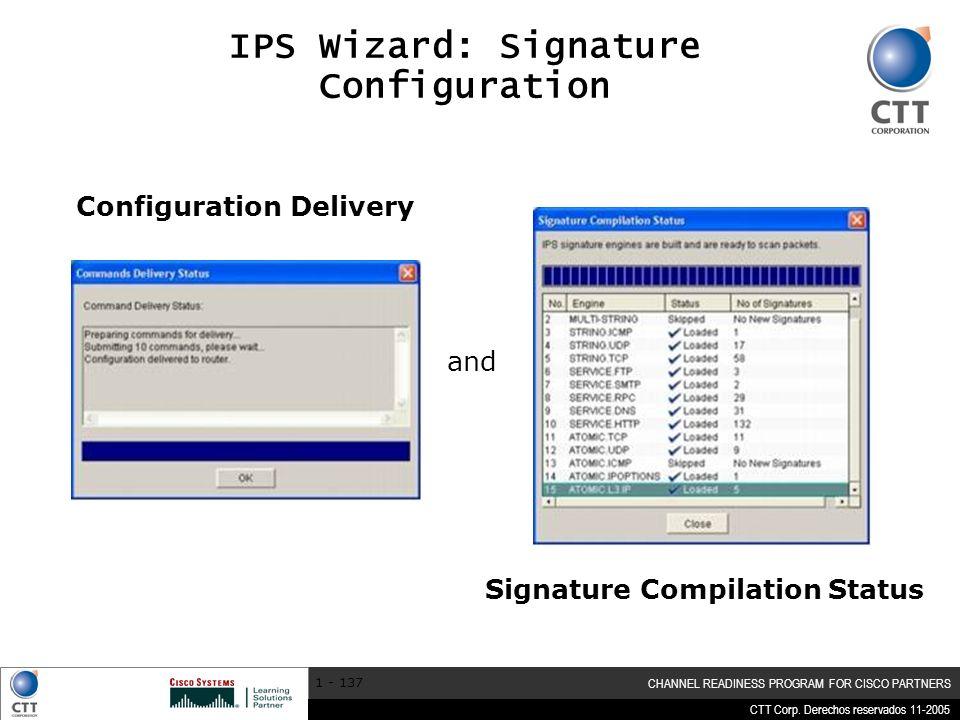 IPS Wizard: Signature Configuration