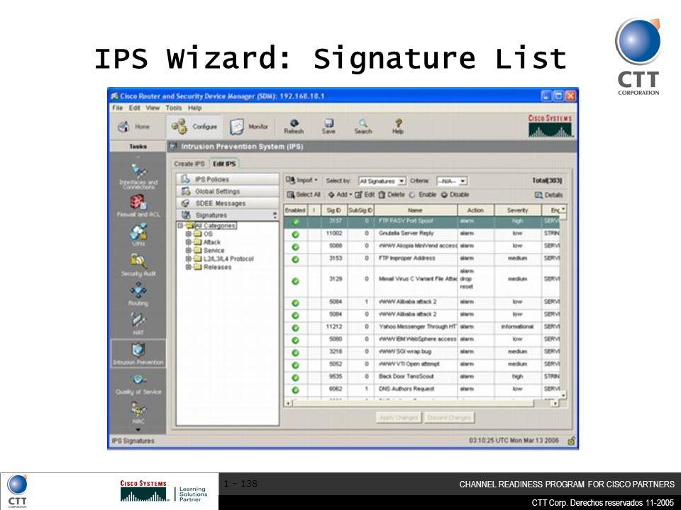 IPS Wizard: Signature List