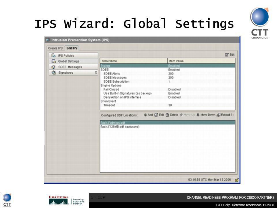 IPS Wizard: Global Settings