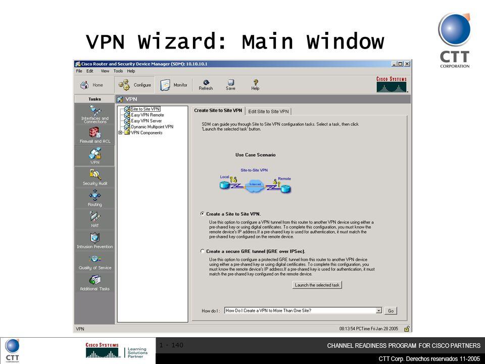 VPN Wizard: Main Window