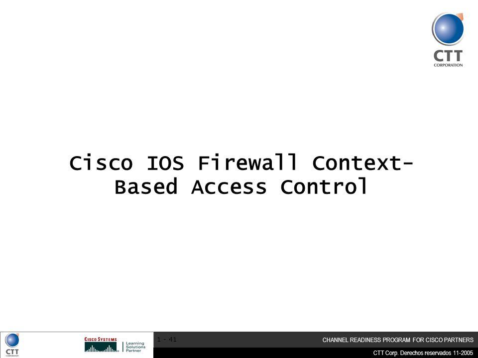 Cisco IOS Firewall Context-Based Access Control