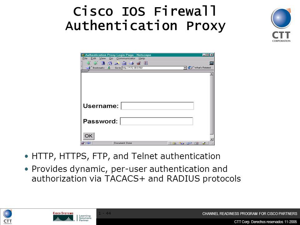 Cisco IOS Firewall Authentication Proxy
