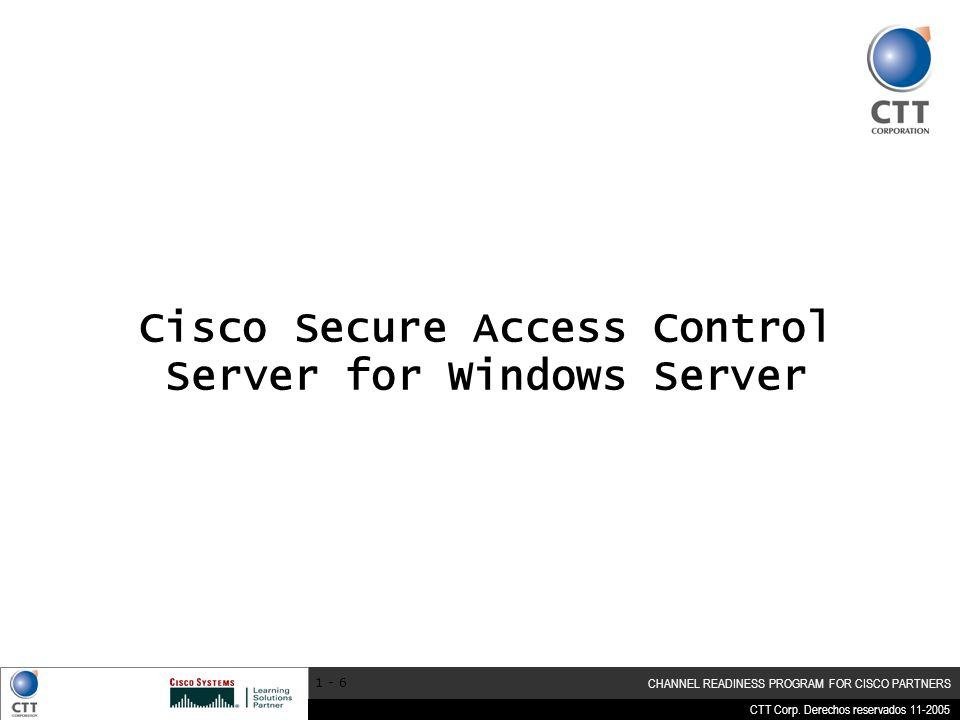 Cisco Secure Access Control Server for Windows Server