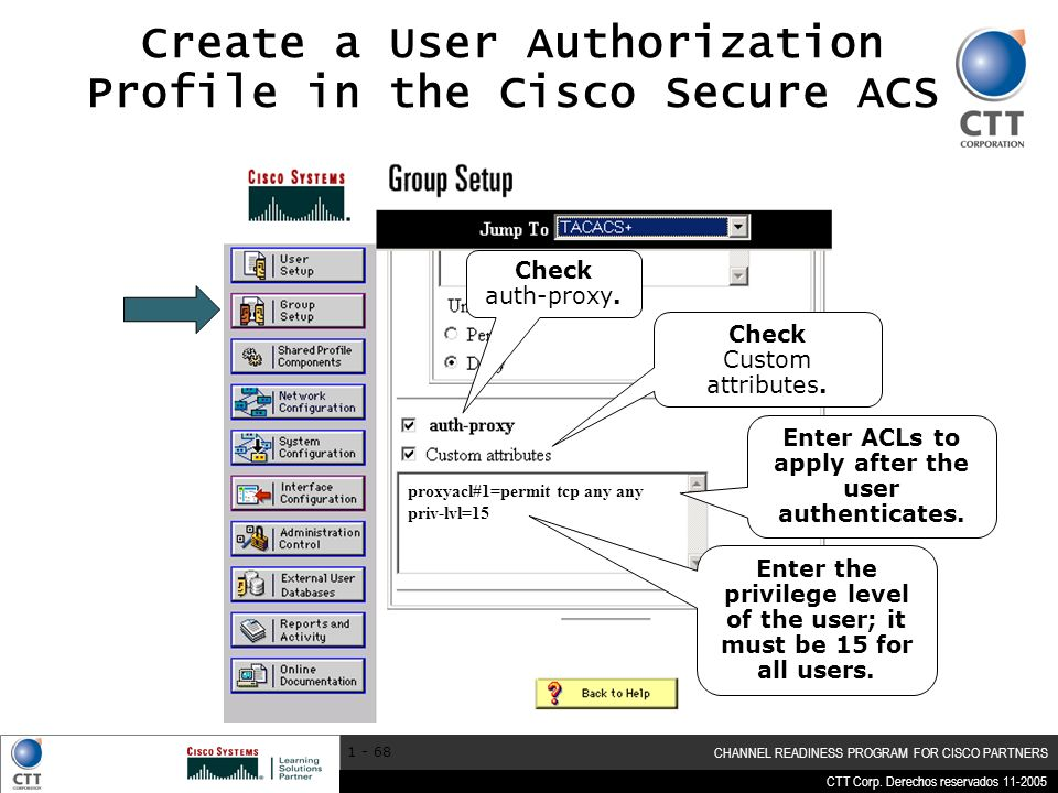 Create a User Authorization Profile in the Cisco Secure ACS