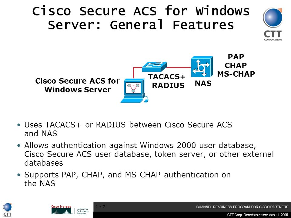Cisco Secure ACS for Windows Server: General Features