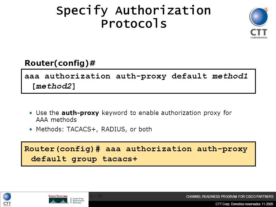 Specify Authorization Protocols