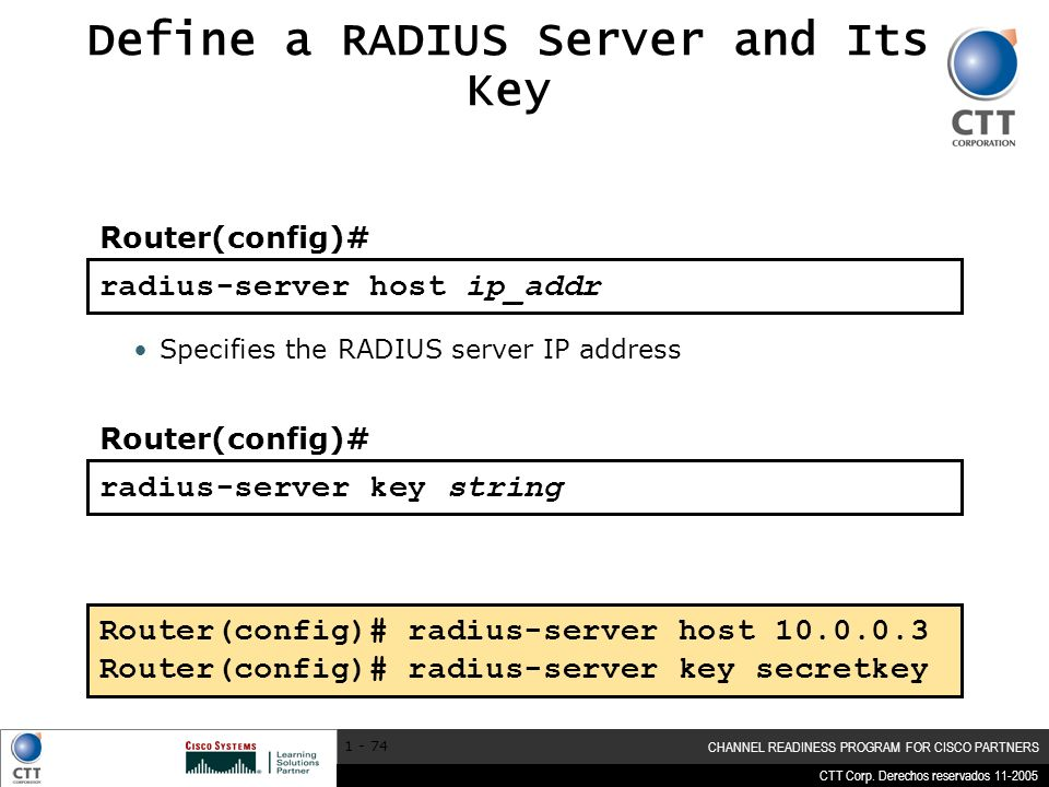 Define a RADIUS Server and Its Key