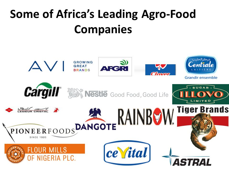 Some of Africa's Leading Agro-Food Companies