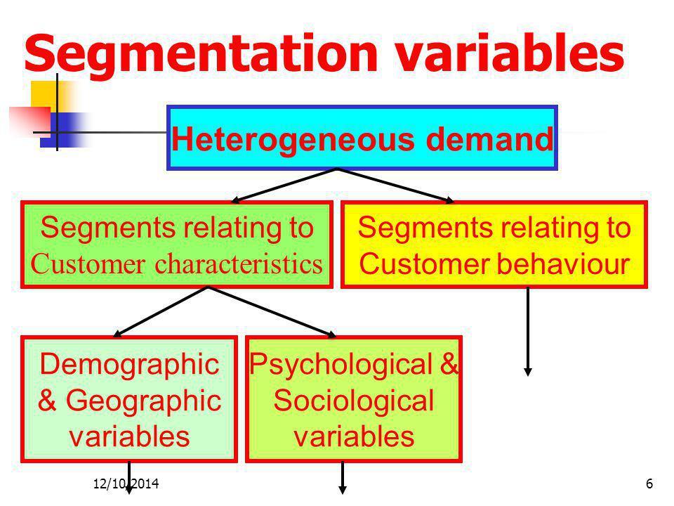 Segmentation variables