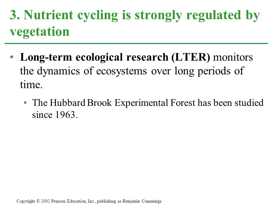 3. Nutrient cycling is strongly regulated by vegetation