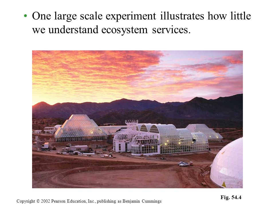 One large scale experiment illustrates how little we understand ecosystem services.