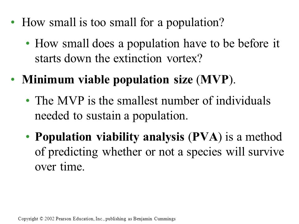 How small is too small for a population