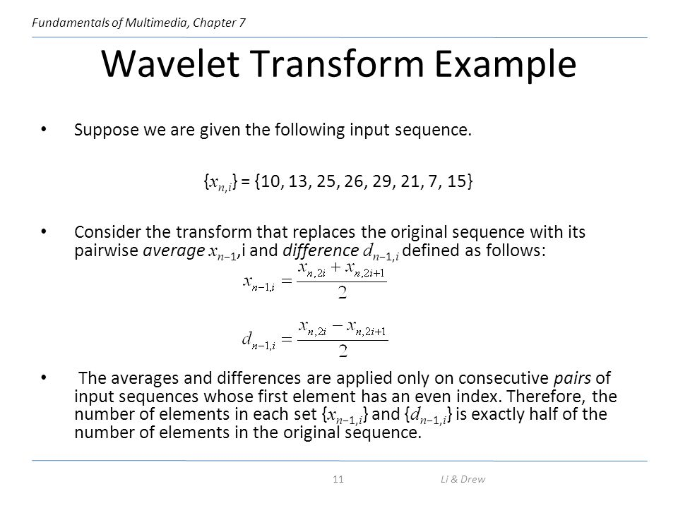 Wavelet Transform Example