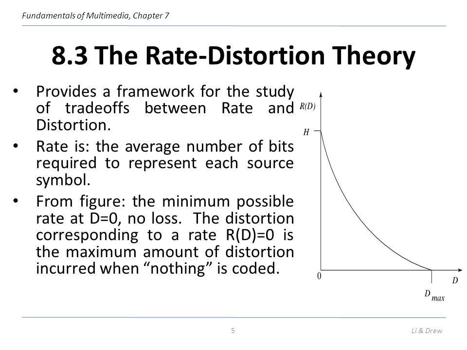 8.3 The Rate-Distortion Theory