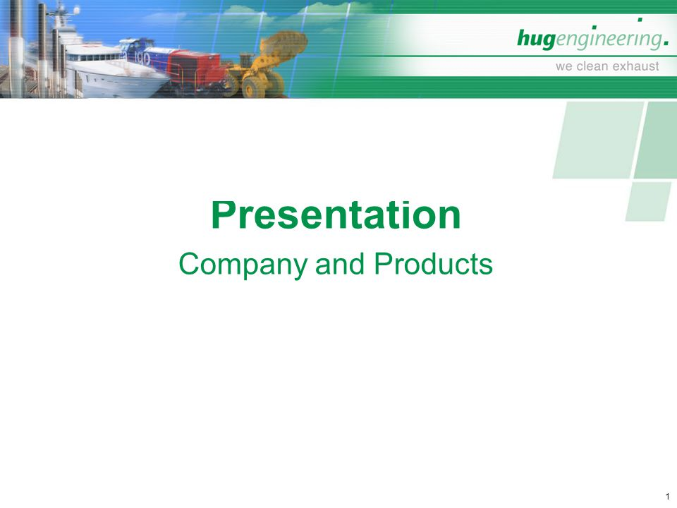 Presentation Company and Products
