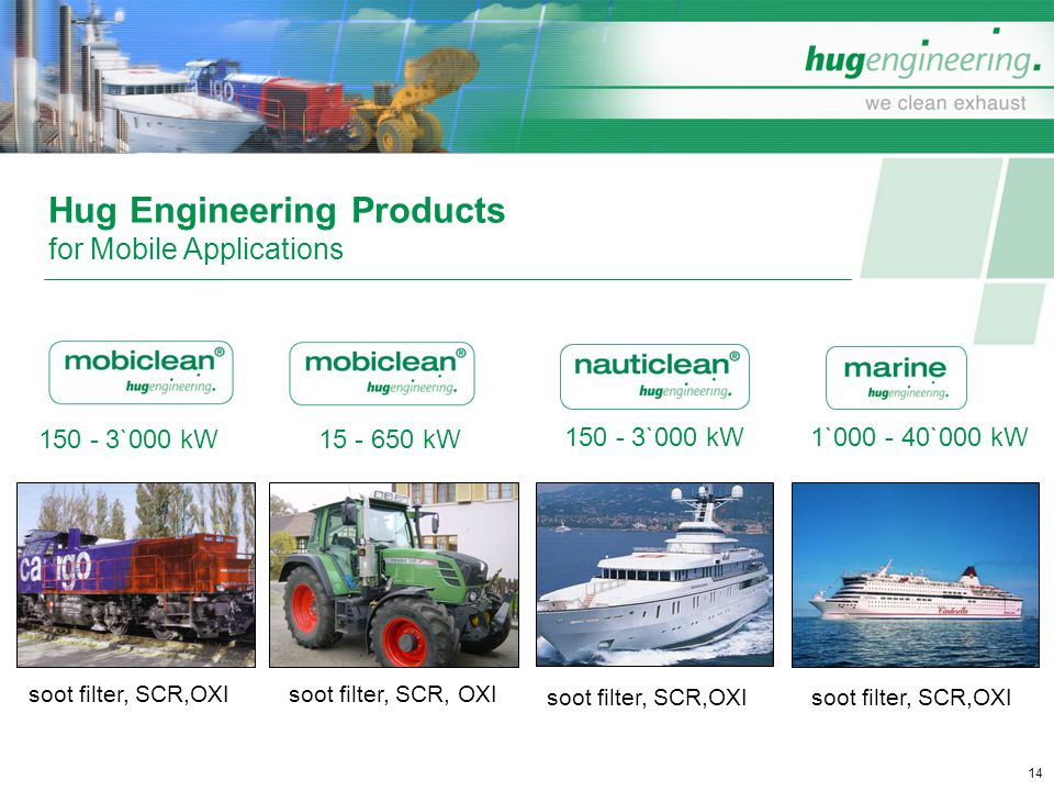 Hug Engineering Products for Mobile Applications