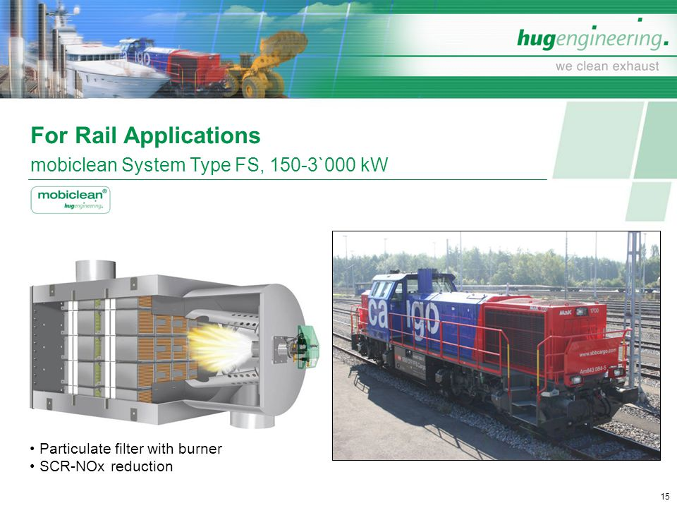 For Rail Applications mobiclean System Type FS, 150-3`000 kW