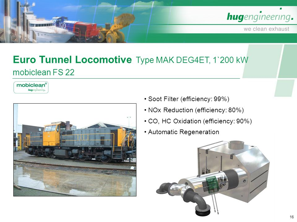 Euro Tunnel Locomotive Type MAK DEG4ET, 1`200 kW mobiclean FS 22
