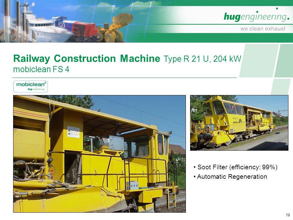 Railway Construction Machine Type R 21 U, 204 kW mobiclean FS 4