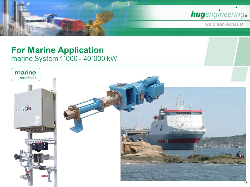 For Marine Application marine System 1`000 - 40`000 kW
