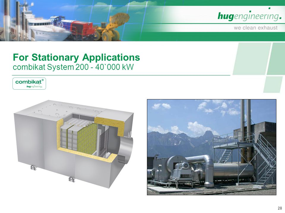For Stationary Applications combikat System 200 - 40`000 kW