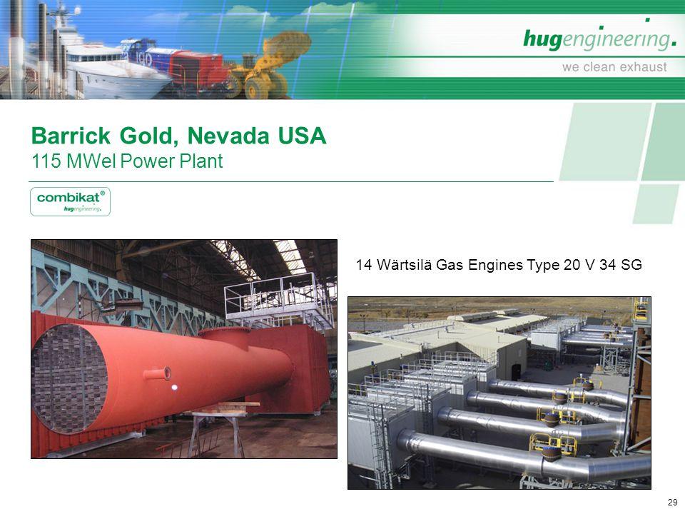 Barrick Gold, Nevada USA 115 MWel Power Plant